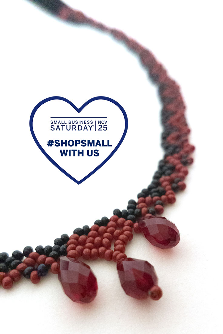 small business saturday 2017 carmilla necklace detail
