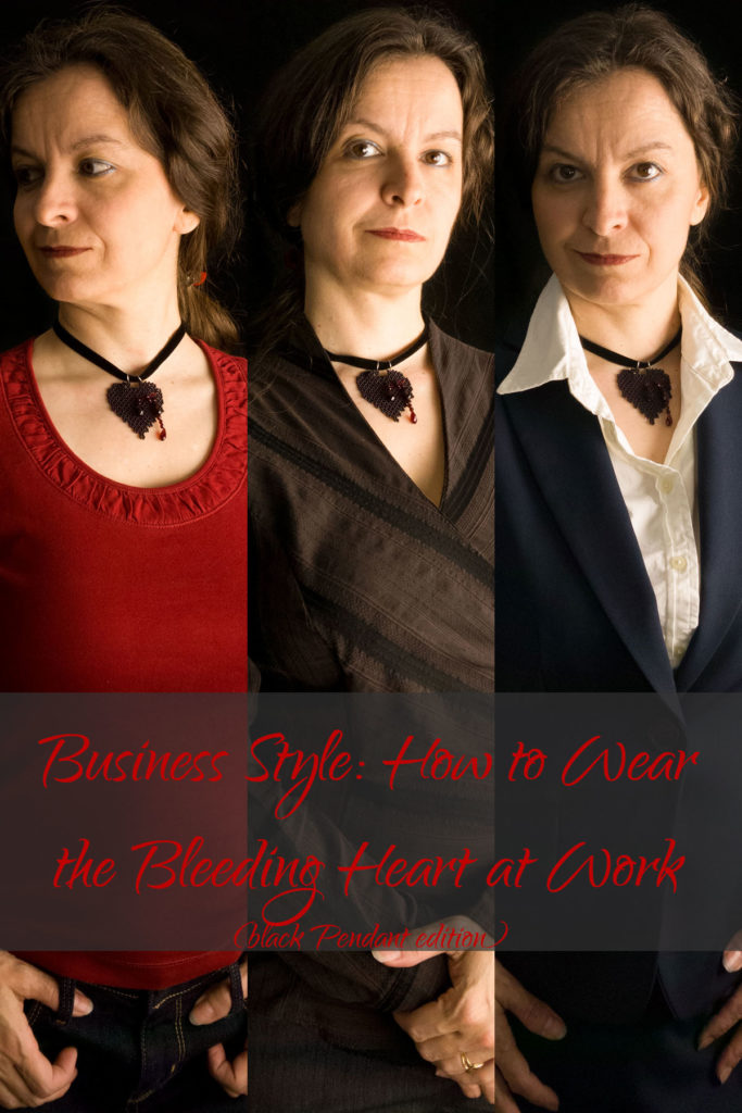 Business Style: How to Wear the Bleeding Heart at Work (Black Pendant Edition)